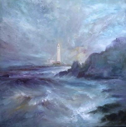 'In The Soft Light of Morning' St Mary's Lighthouse near Whitley Bay. Kate Van Suddese.