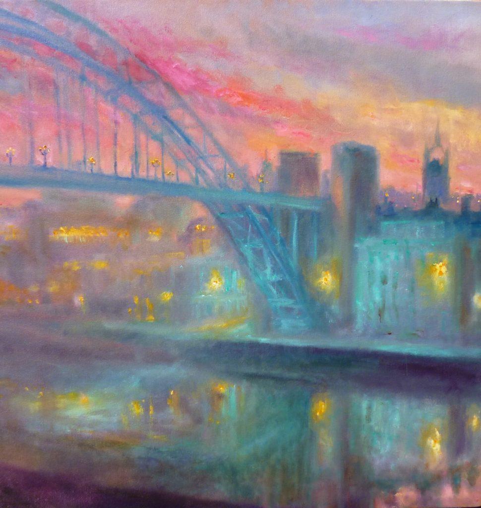 'Night Life'. The Tyne Bridge, Kate Van Suddese.