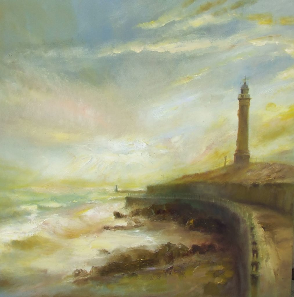 Roker Lighthouse. Kate Van Suddese.