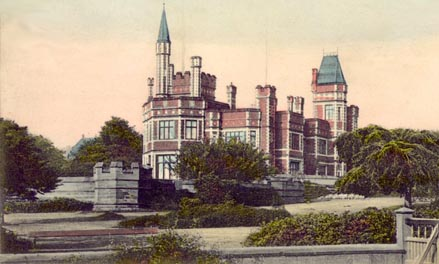 Old postcard showing Park House, Saltwell Park