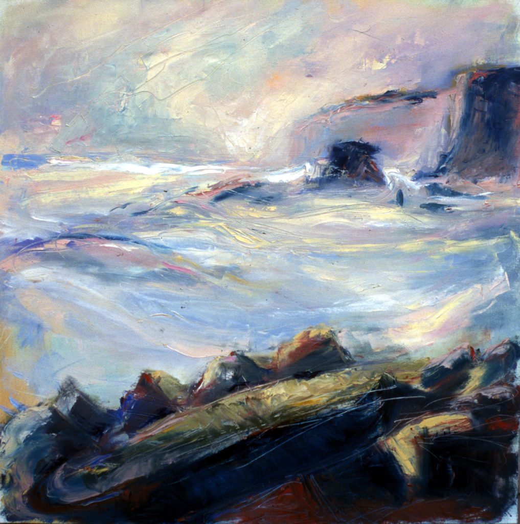 'Sea Kiss' by Kate Van Suddese. Depicts the rocks at Marsden Bay.