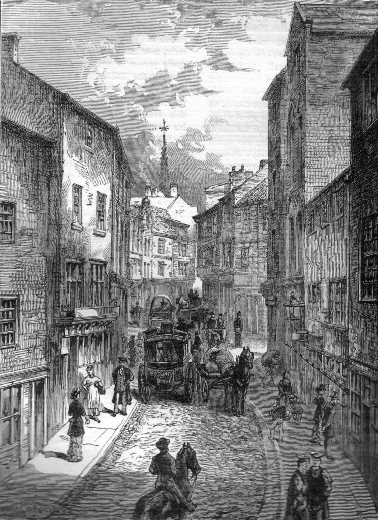 Victorian illustration of Silver Street