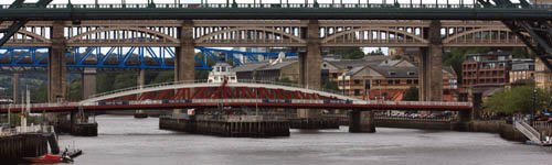 Bridges on the Tyne between Newcastle and Gateshead traditionally linked the counties of Northumberland and Durham