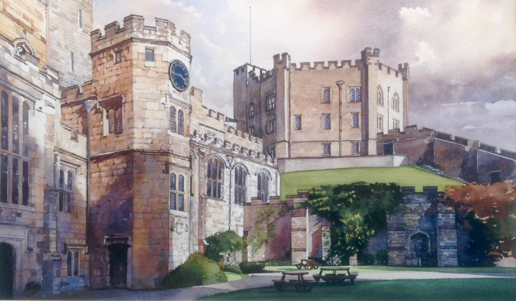 Durham Castle painted by Stuart Fisher