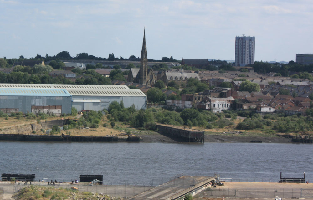 Hebburn church and river