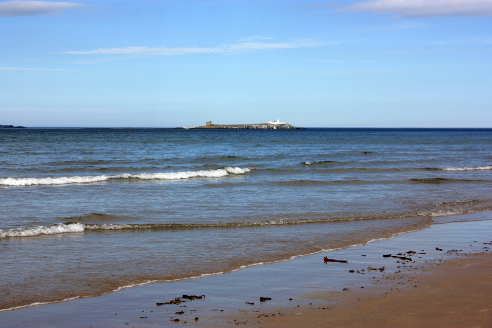 Inner Farne from Bamburgh beach.