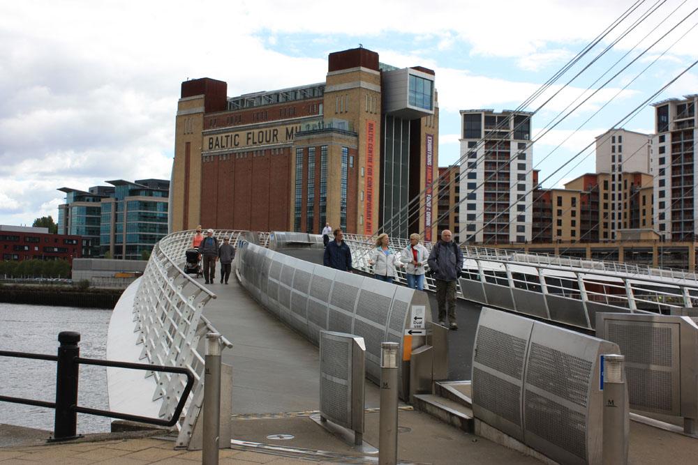 BALTIC viewed from the Gateshead Millennium Bridge