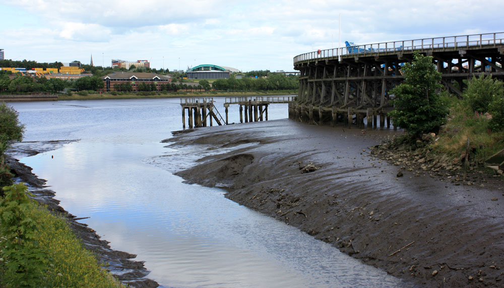 Dunston Staithes and the mouth of the River Team