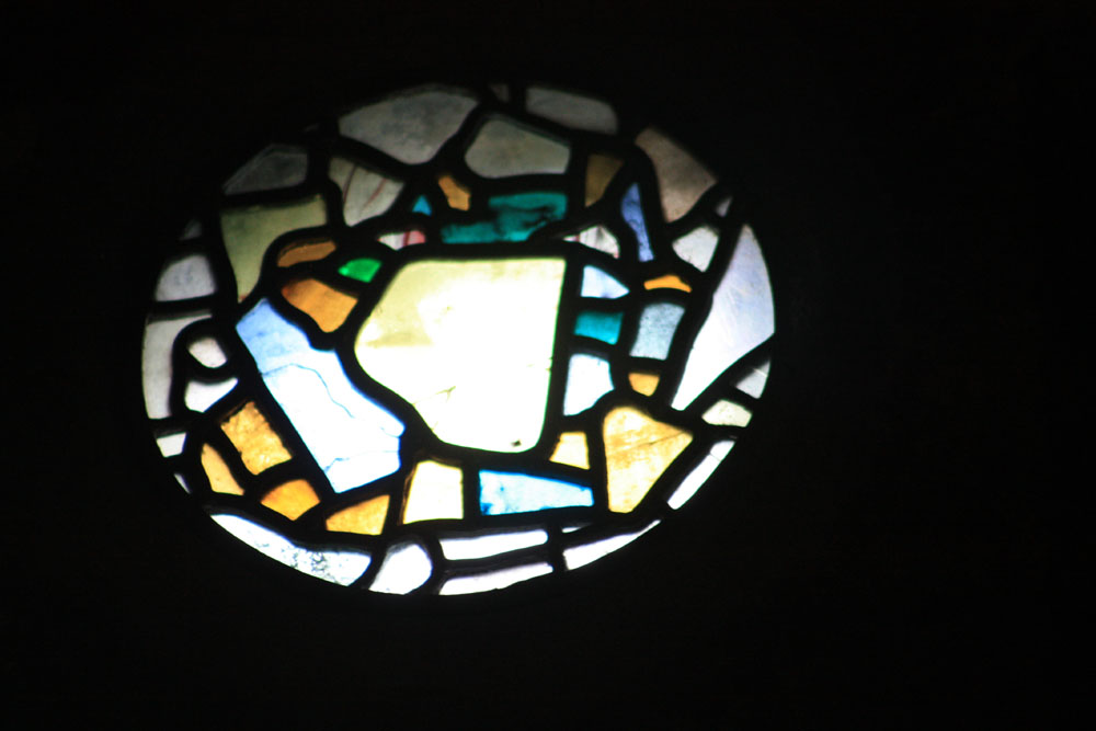 Anglo-Saxon stained glass at Jarrow