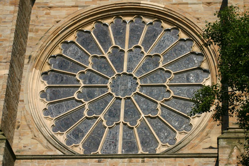 Rose window Durham Cathedral