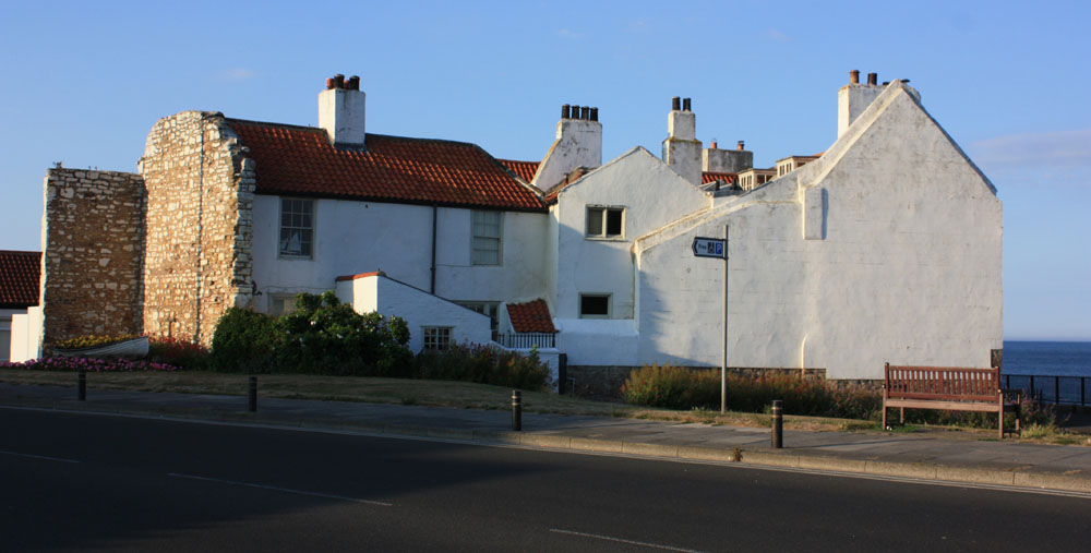 The remains of Sparrow Hall in the old part of Cullercoats.