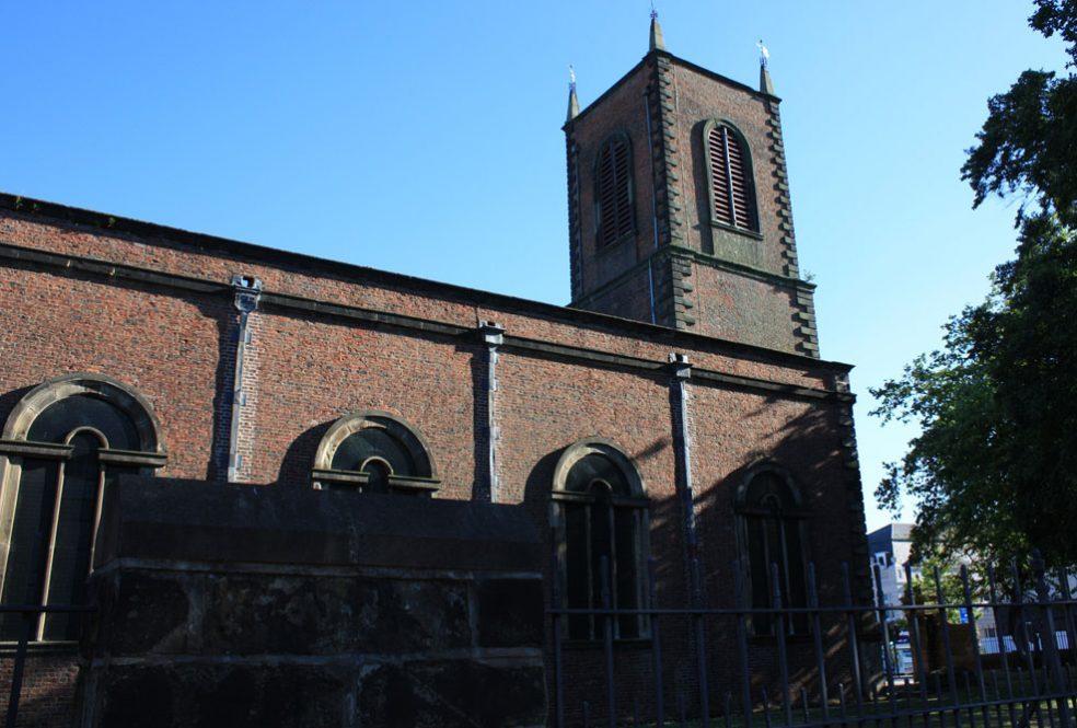Stockton parish church of 1712.