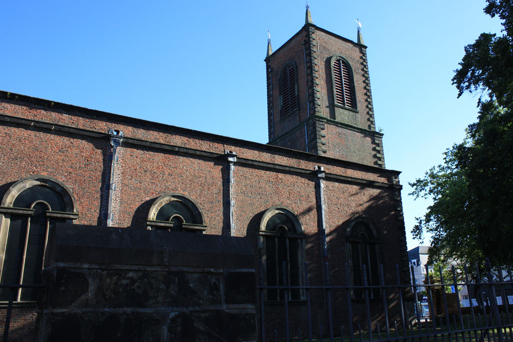 Stockton parish church of 1712.