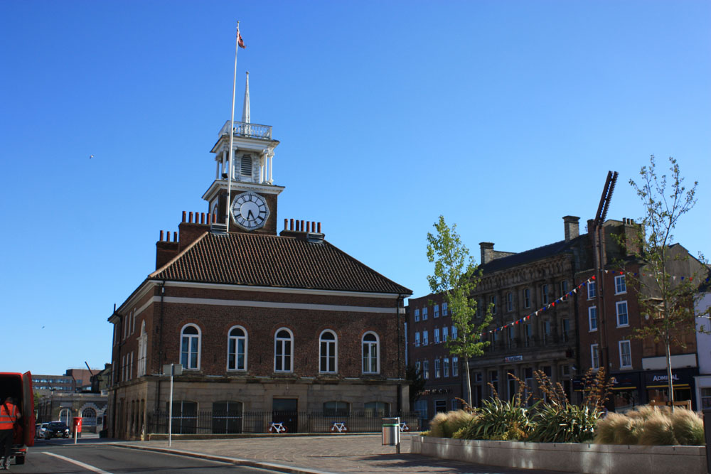 The town hall and bank, Stockton