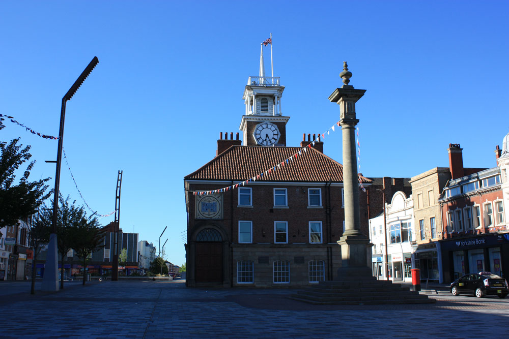 Stockton Town hall and Market Cross.