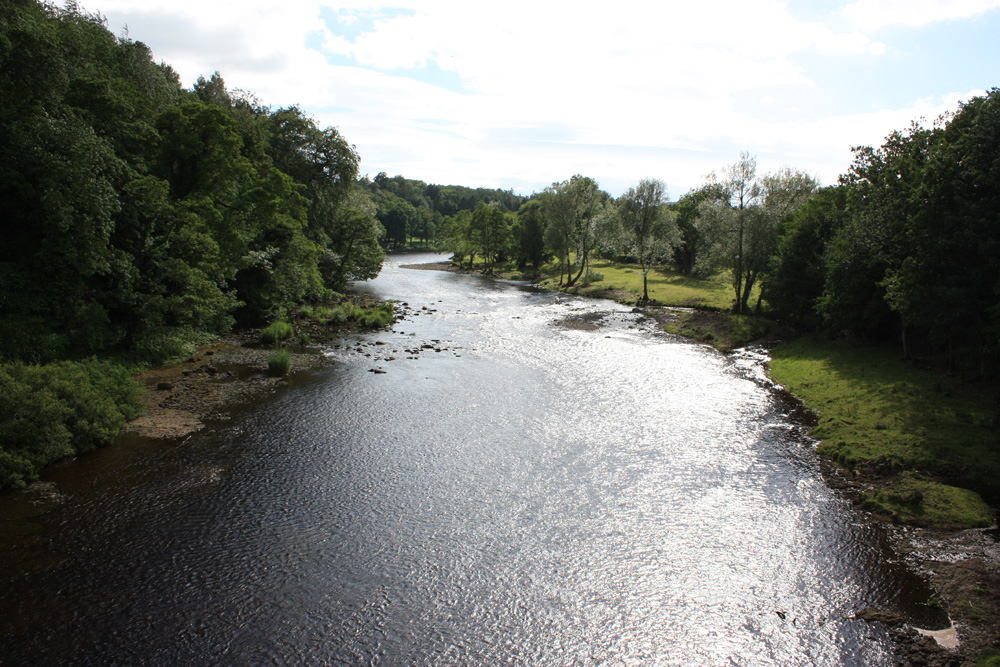 The River Tees at Piercebridge.