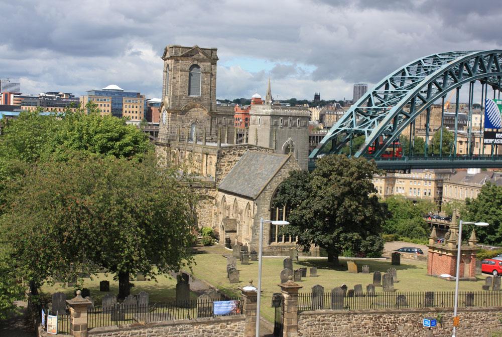 Church of St Mary, Gateshead and Tyne Bridge