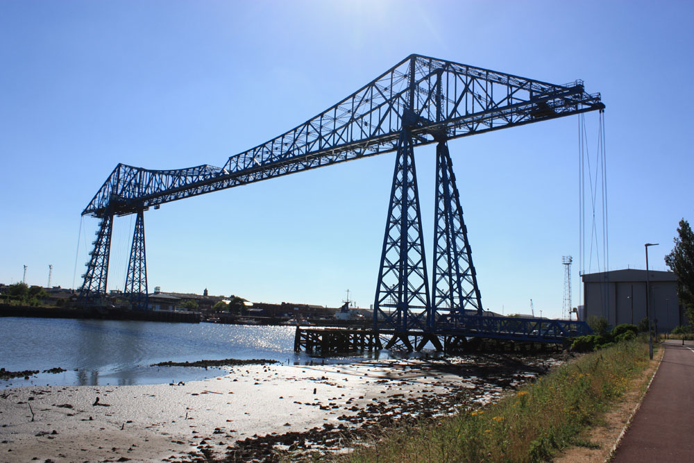 Transporter Bridge from Port Clarence looking towards Middlesbrough
