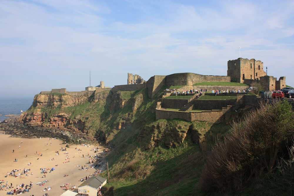 Tynemouth Castle and the bay