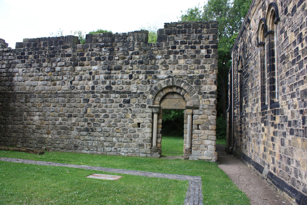 Remains of Norman monastery at Jarrow