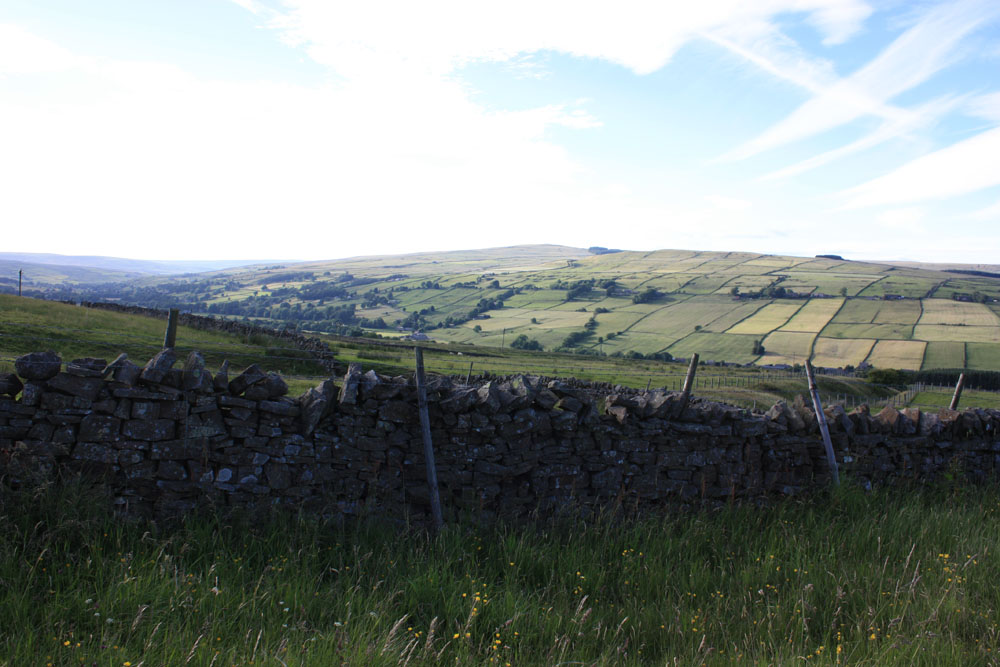 Upper Weardale scenery near Westgate