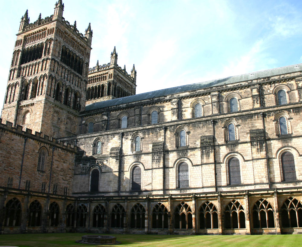 Western towers and Cloister, Durham Cathedral