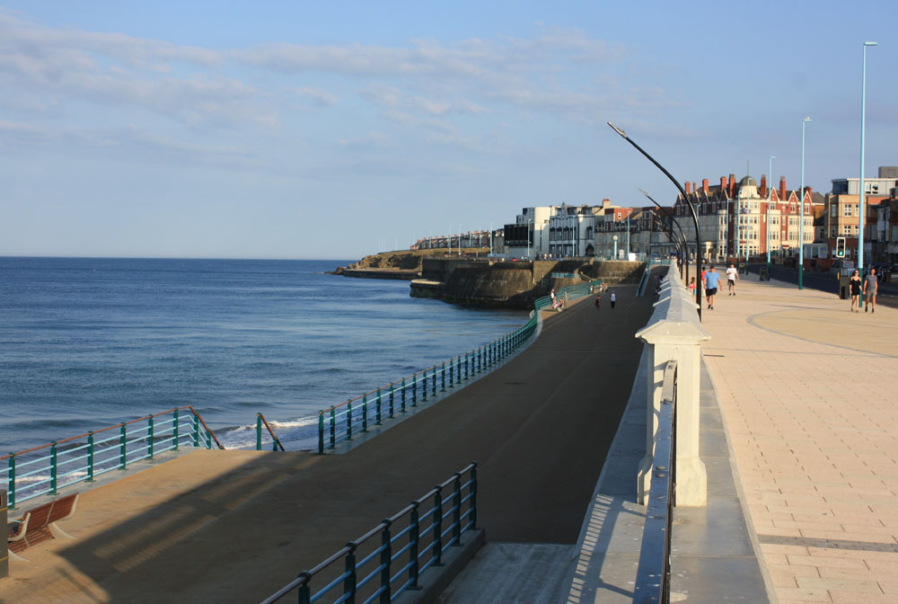 Whitley Bay sea front.