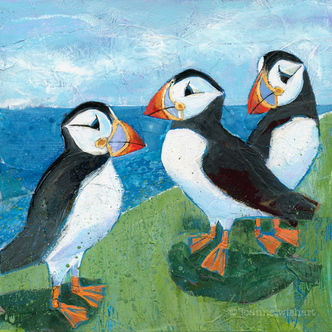 Puffins by Joanne Wishart