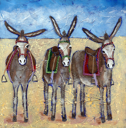 Seaside Donkeys by Joanne Wishart