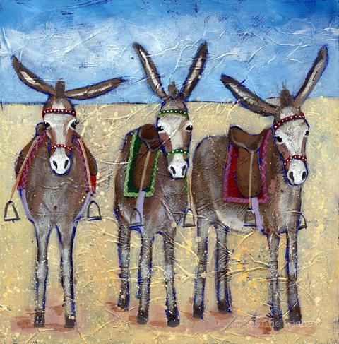 Seaside Donkeys by Joanne Wishart