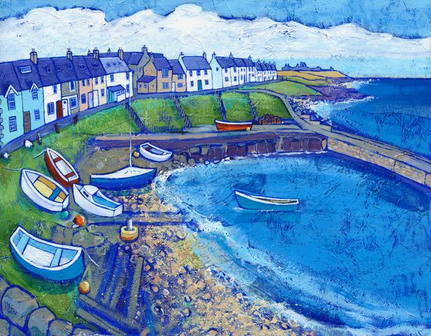 Towards Dunstanburgh by Joanne Wishart