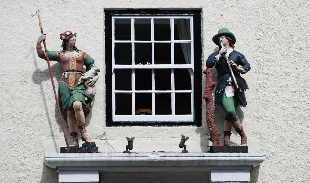 Figures, Shepherd and Shepherdess Beamish village.