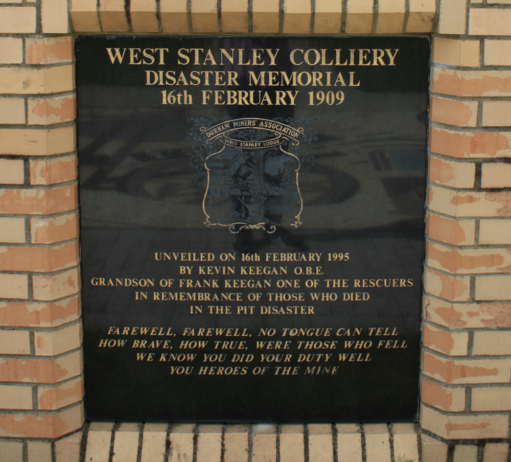 Mine disaster memorial Stanley