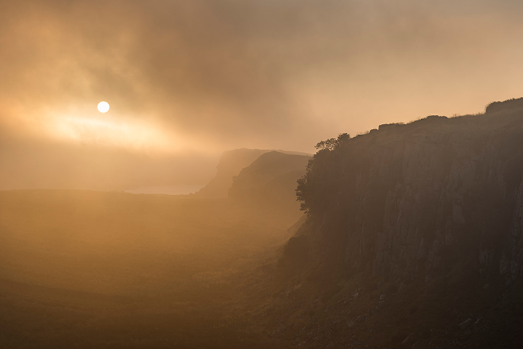 Peel Crags, Hadrian's Wall. Photo David Taylor