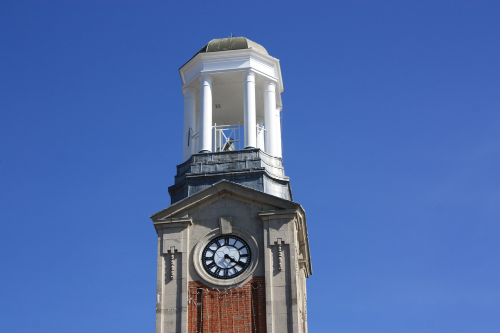 Spennymoor Town Hall clock.