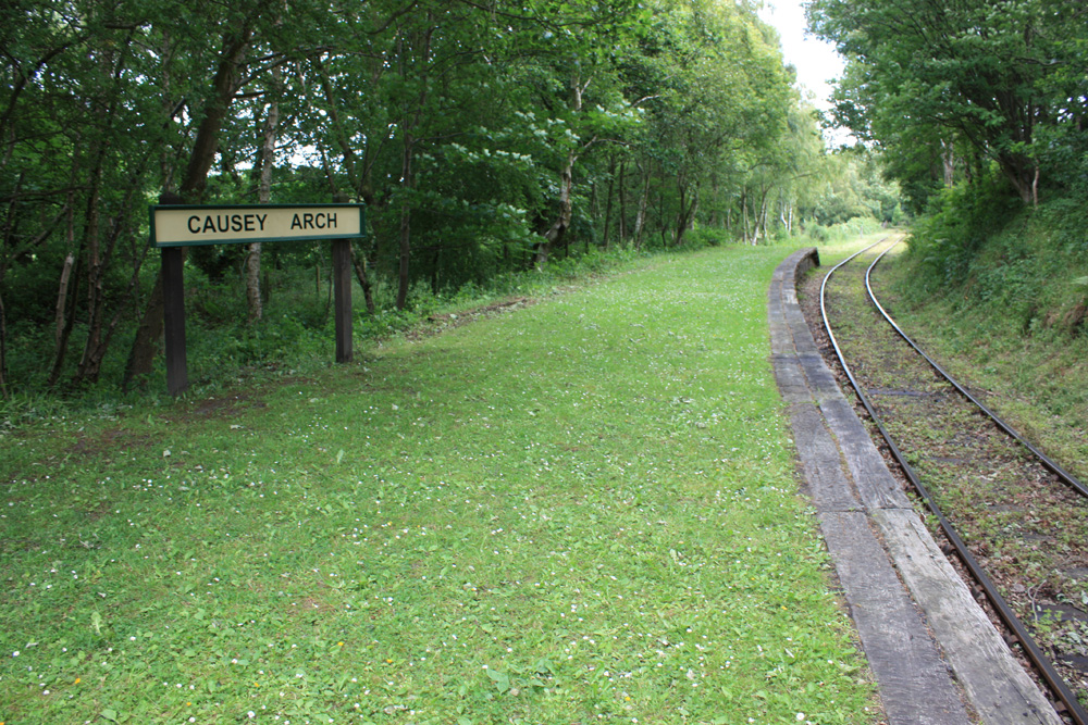The Tanfield Railway near Causey Arch