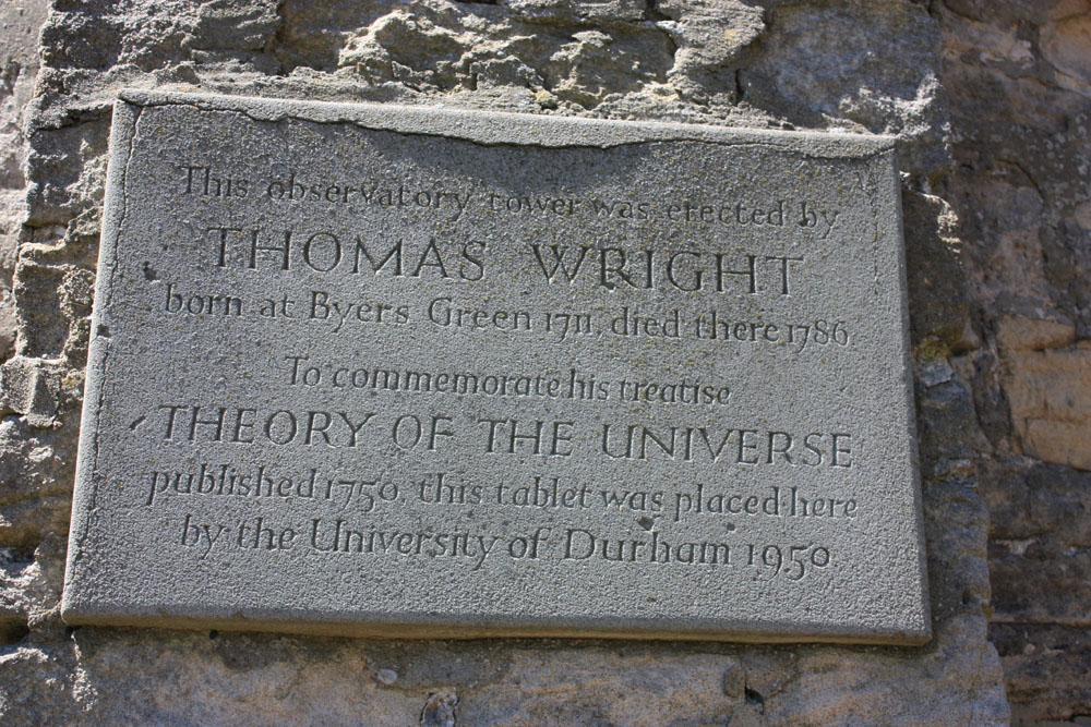 Memorial to Thomas Wright at Westerton.