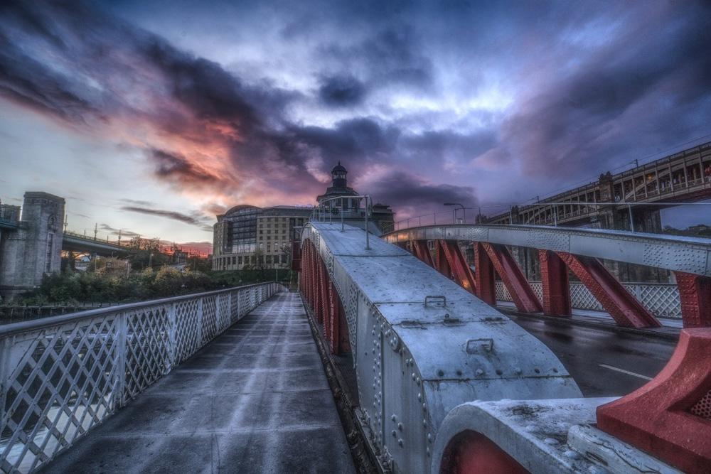 Swinging Bridge Sky by Lang Shot Photography
