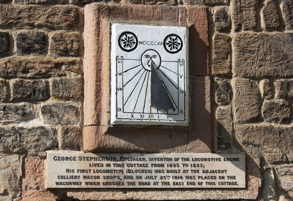 George Stephenson's sun dial at Dial Cottage