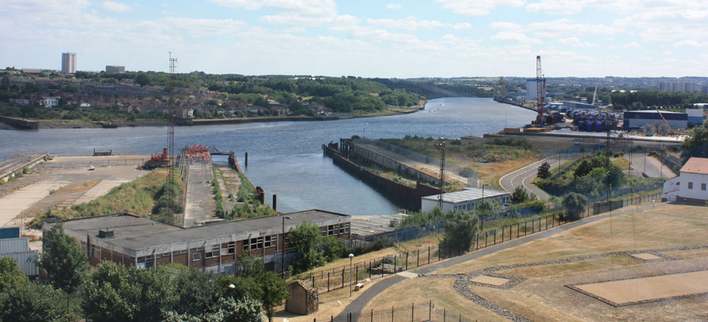 Segedunum and the Tyne at Wallsend.