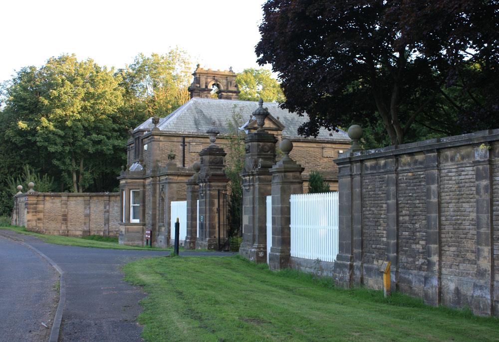 Former entranceway to Blagdon estate.