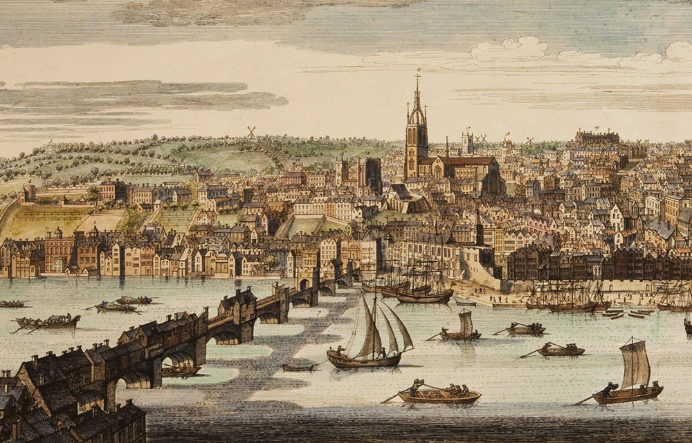 Nathaniel Buck's view of Newcastle 1745