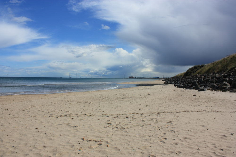 Cambois beach looking south towards Blyth