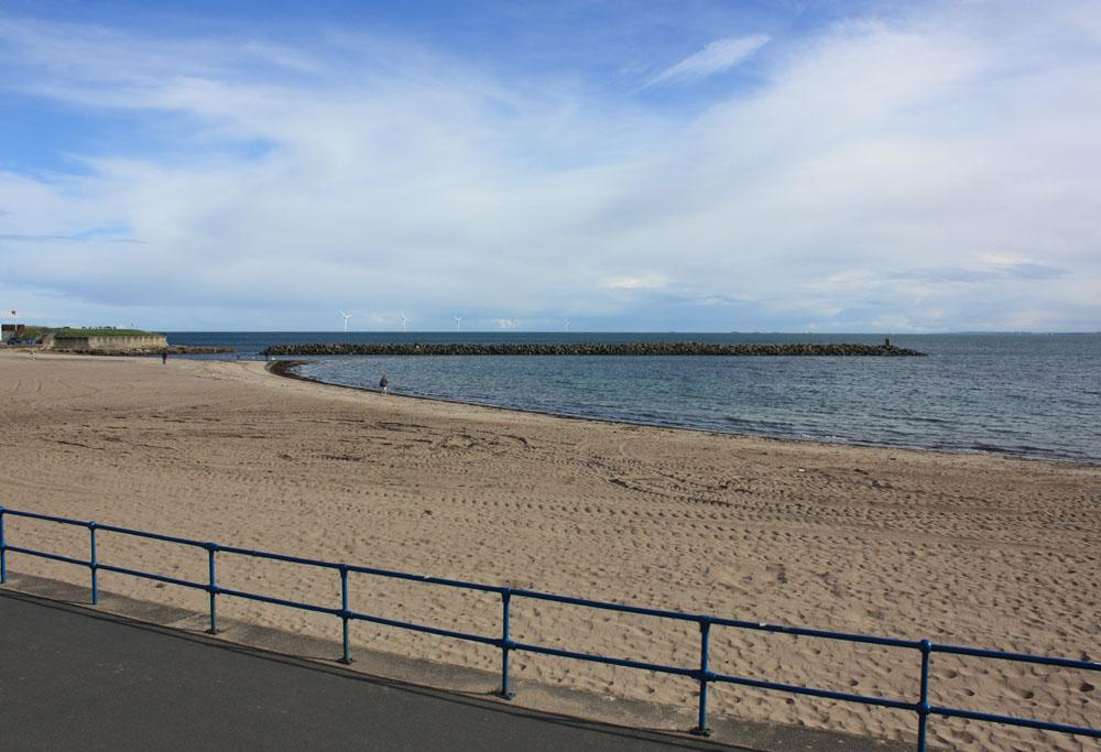 Newbiggin beach.