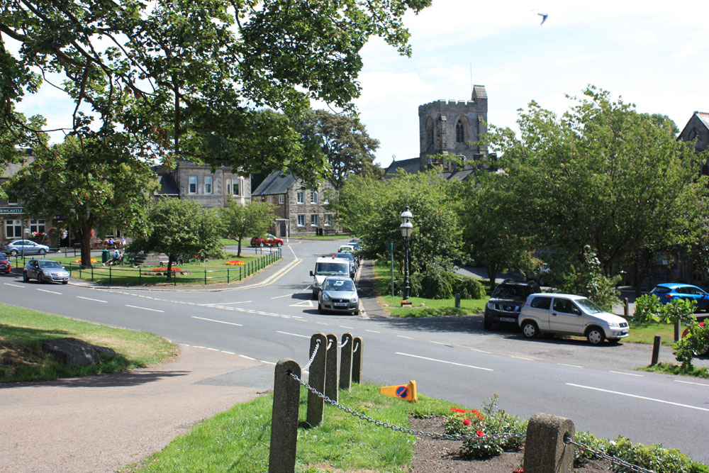 Rothbury and its church.