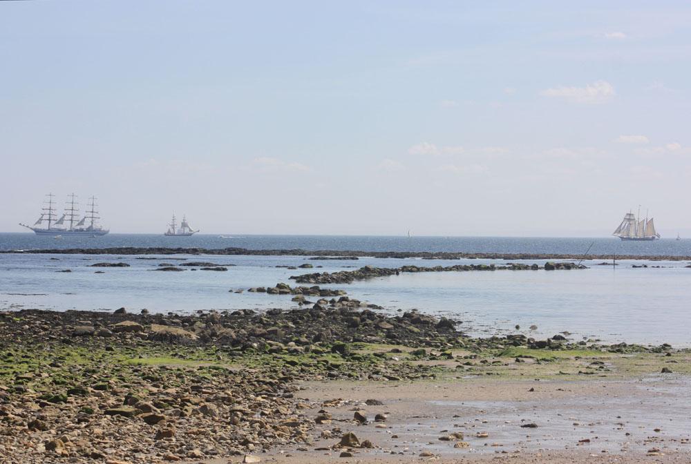 Seaburn, Sunderland during the 2018 Tall Ships race.