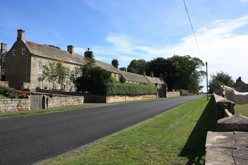 Whalton village.
