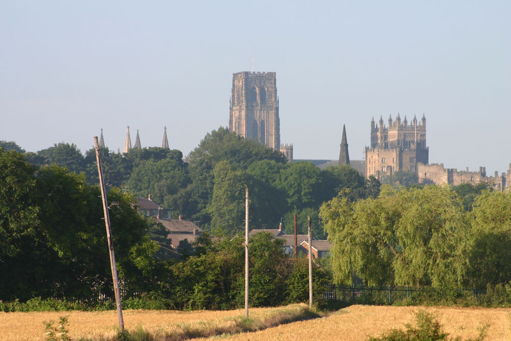 Durham Cathedral from Frankland Lane