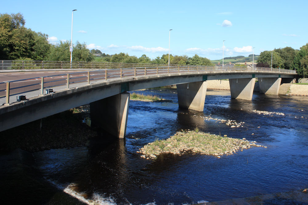 The modern bridge at Haydon Bridge