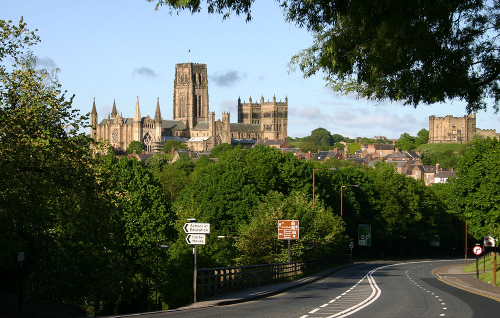 Durham Cathedral and castle from Leazes Road, Gilesgate